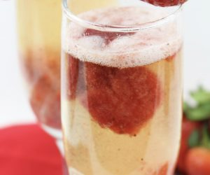 Strawberry Cupid Mimosas Cocktail Drink Recipe, a simple, yet delicious, that can be enjoyed on Valentine's Day for breakfast, brunch, lunch or dinner.