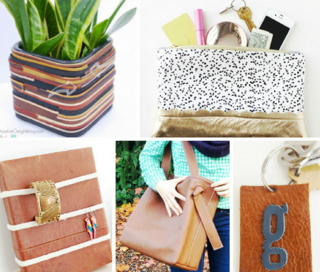 20 DIY Craft Projects Using Leather