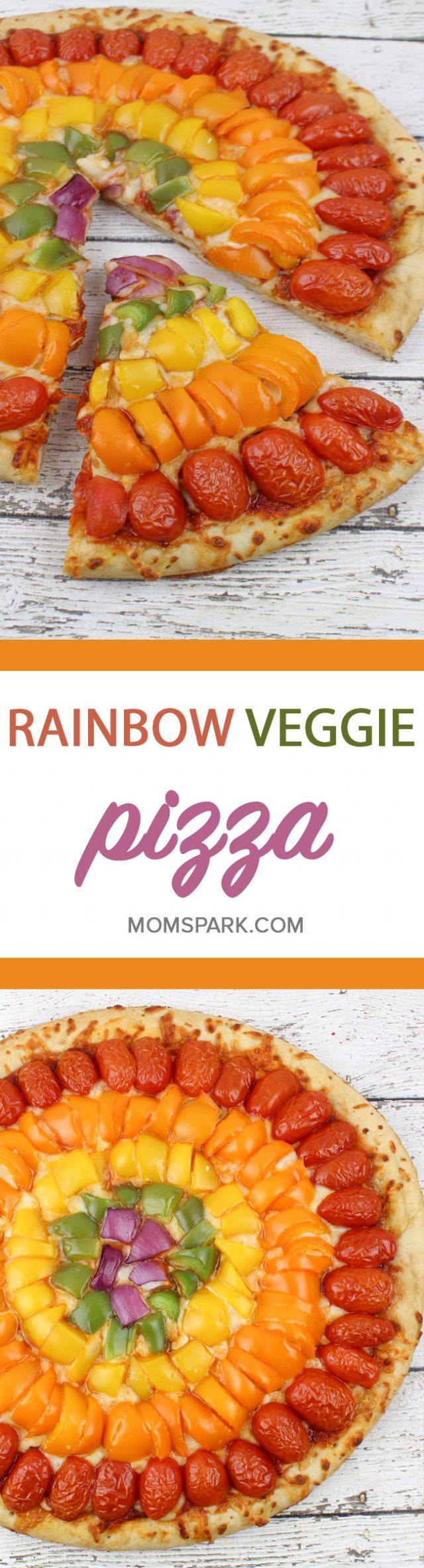 Rainbow Veggie Pizza Recipe