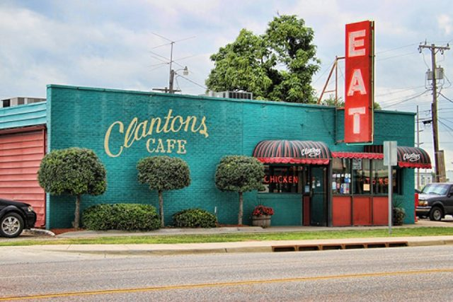 When you stop in at Clanton's Cafe, make sure you have the chicken fried steak, it is the highest complemented dish on Yelp. Don't forget to throw in the hand battered onion rings. If you leave without trying one of the pies, you will be sorry. They are delicious!