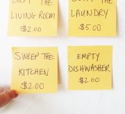 Easy Sticky Note Chore Chart for Kids