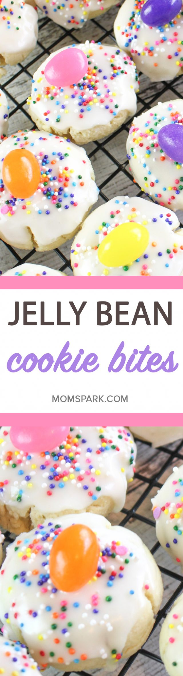 Jelly Bean Cookie Bites Recipe Mom Spark Mom Blogger