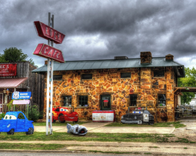 This iconic RT. 66 restaurant has inspired the character Sally Carrera in the Disney/Pixar Film Cars. The history will make you stop by but the food will make you stay. If you are looking for stick-to-your-ribs home cooking at a great price, The Rock Cafe is the right place!
