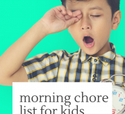 Free Printable Morning Chore List for Kids