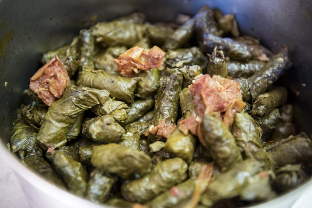 Cooking with the Druze people of Israel - stuffed grape leaves