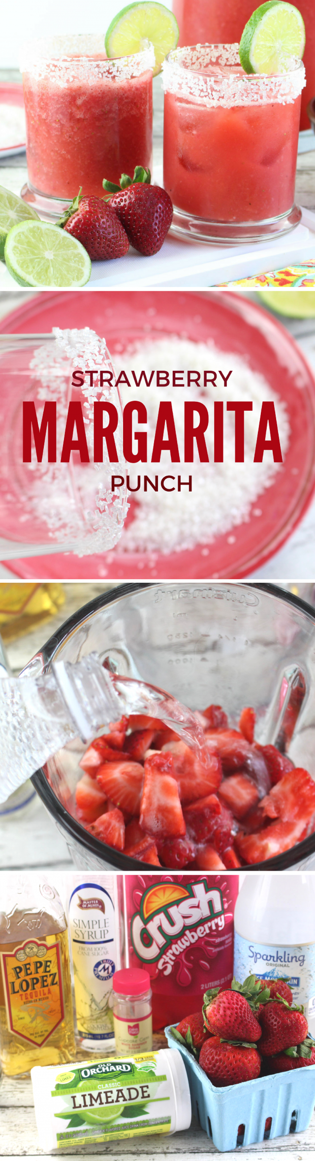 Strawberry Margarita Punch Drink Recipe  Oh, how I'm already loving the longer, sunny days of spring and early summer. It has me in a mood for yummy margaritas at the end of the day, which inspired this recipe today!  Strawberry Margarita Punch. So sweet and delicious!
