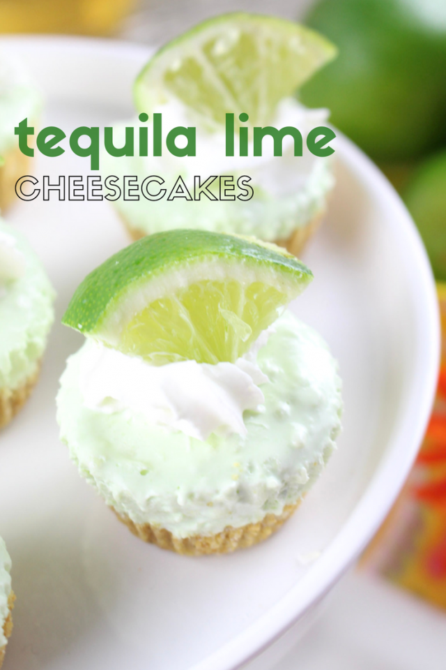 Mini Tequila Lime Margarita Cheesecake Pie Recipe  Summer is on its way, so my mind has been racing with cool, refreshing recipes to make on those long hot days. Citrus dishes instantly come to mind, with limes in particular on the very top of that list.  So, let's celebrate summer today with limes - what say you?  Mini Tequila Lime Margarita Cheesecake Pies! Ready for the recipe?