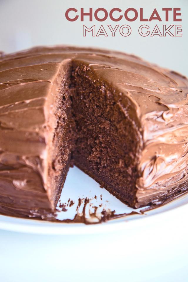 Box Chocolate Cake With Mayonnaise Recipe