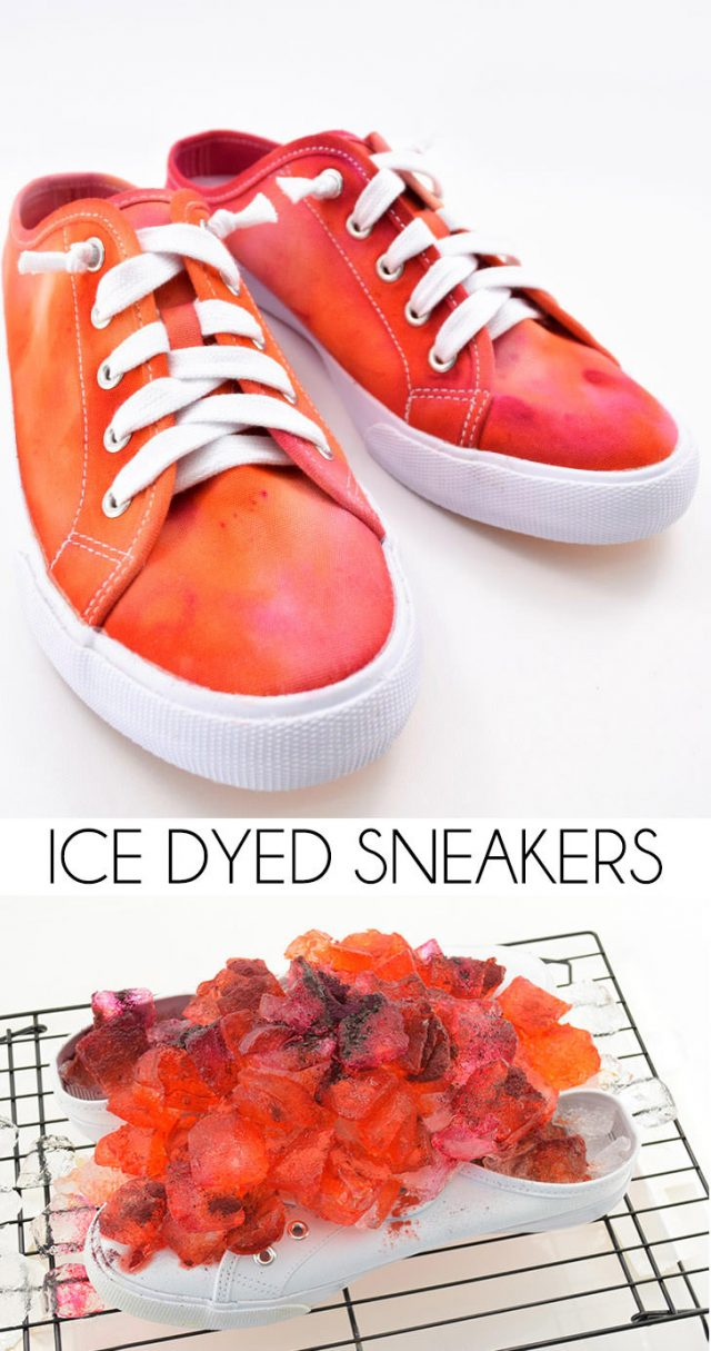 Get in on the hottest tie dye trend with ice dyeing. It's totally random and that makes it so much fun. Get unique results, no 2 pairs will look alike!