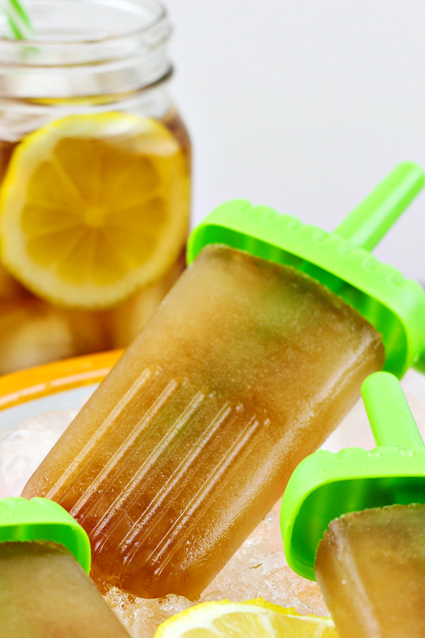 Sweet Tea Vodka Ice Pops Who says that enjoying popsicles needs to end when you grow up? Whoever does say that is full of bologna! Thank goodness there's a lot of people who think that boozy popsicles should be a thing that we do. Often. From margarita popsicles to red wine popsicles, there's something for every responsible adult who would like to enjoy an alcoholic treat on a hot summer day. Here are 10 boozy popsicle recipes for adults.