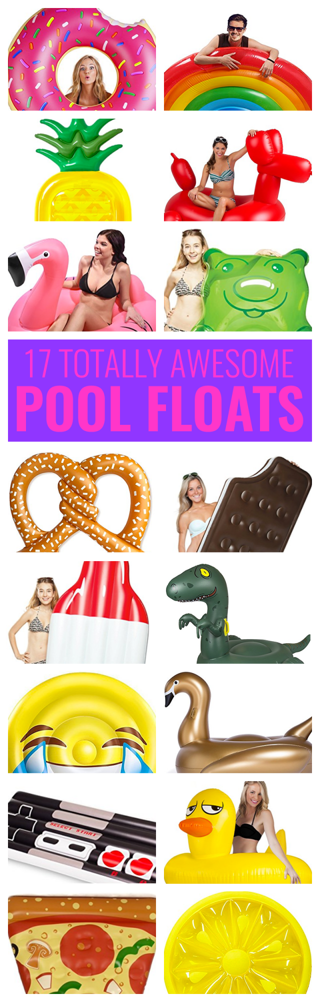 Summer is officially here! Which means it's time to take the kids to the pool and why not do is in style? We've already shared a bunch of one-piece swimsuits moms are buying on Amazon right now. Now I'm here to share with you 17 awesome pool floats you need to bring to the pool this summer: