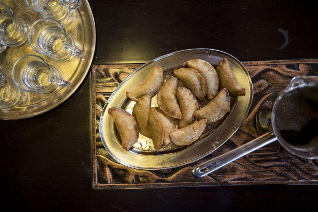 Eating at Nurah's Kitchen in Israel