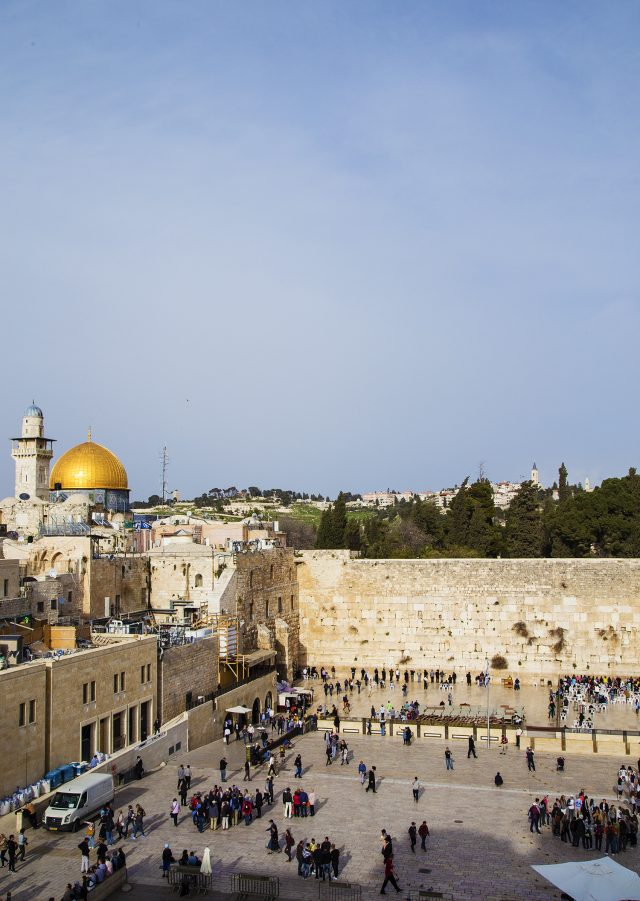 The Western Wall of the Old City of Jerusalem, Israel