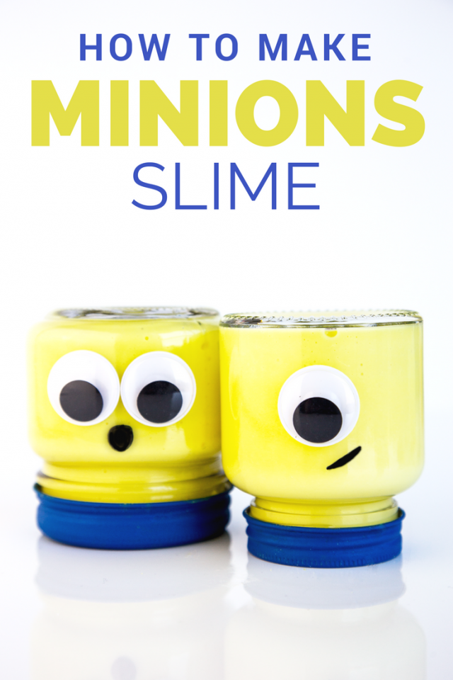 How to Make Easy Despicable Me 3 MINIONS Borax-Free Slime! In honor of the upcoming movie, we have put together a super cute (and easy) BRIGHT YELLOW Minions BORAX-FREE slime recipe that your kids will just love.
