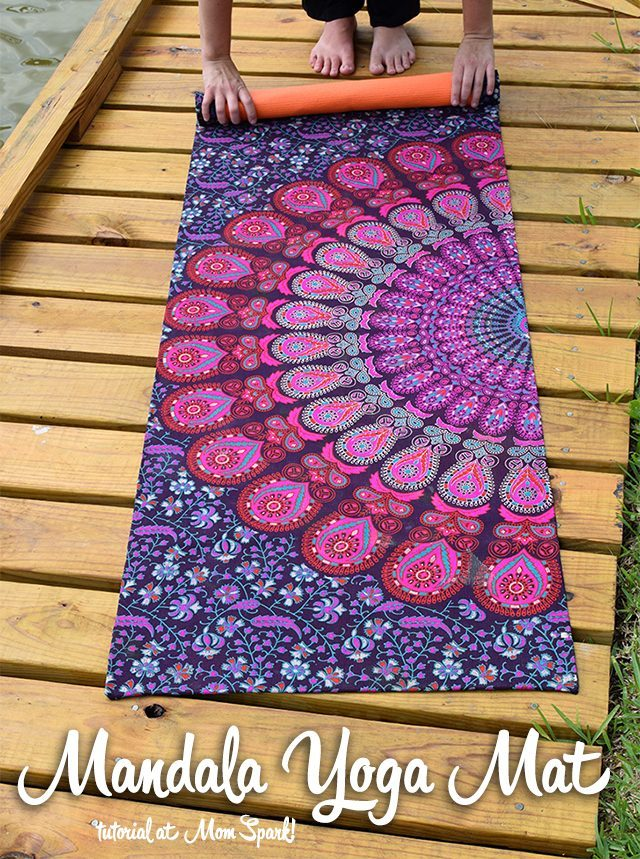Mandala yoga mat - As a mom, yoga is one of my favorite exercises. I didn't know what I needed to start doing yoga, so I asked other moms on Facebook their must-have yoga items.