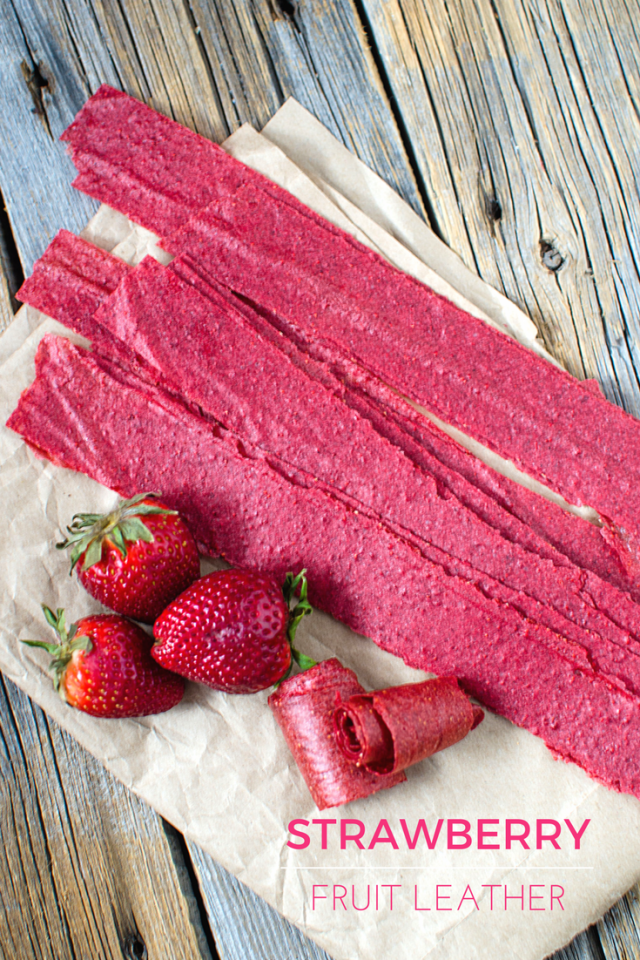 ... raw days with this easy make-at-home strawberry fruit leather recipe