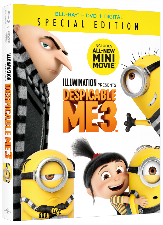 Despicable Me 3 Special Edition DVD & Blu-ray Release Date