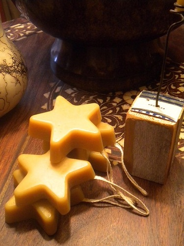Beeswax Ornaments via Lucy & Amelia Candle Co.