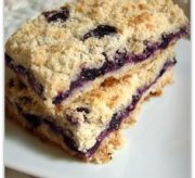 Easy Blueberry Crumb Bars