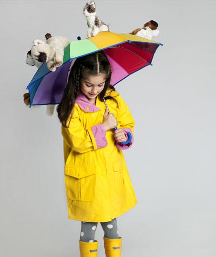 raining cats and dogs umbrella kid halloween costume