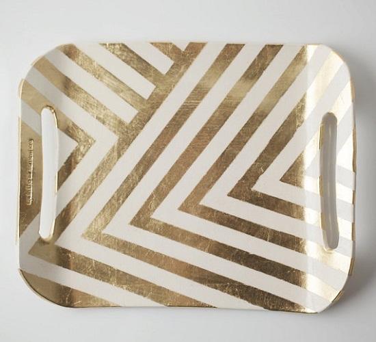 chevron painted tray