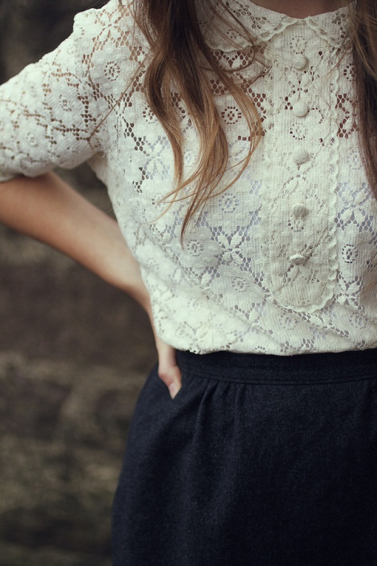 lace blouse shirt fashion