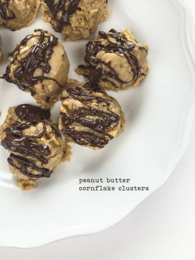 Peanut Butter Cornflake Clusters
