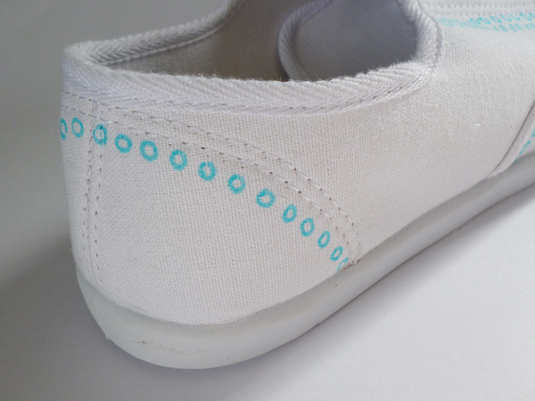 Shoe Makeover: Faux Painted Oxfords momspark.net