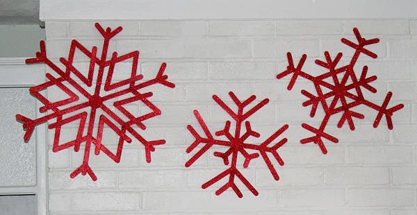 Gigantic Popsicle Stick Snowflakes Tutorial Mom Spark