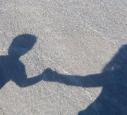 walking on beach with son momspark.net