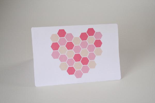 DIY Handmade Homemade Bee Valentine Greeting Cards momspark.net