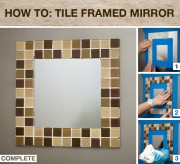 home depot tile mirror project diy