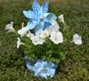 Springtime Decorative Tin Bucket Craft Tutorial momspark.net