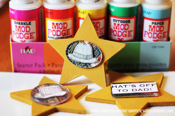 Mod Podge Fathers Day Magnets Craft