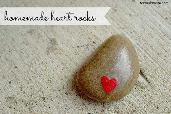 Mod Podge Heart Rock Craft