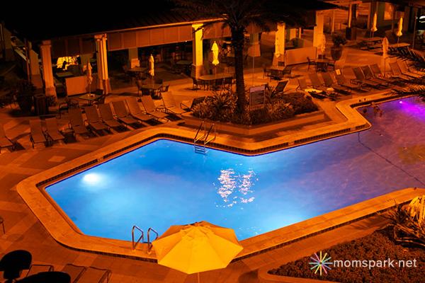Pool at Night Hilton Sandestin