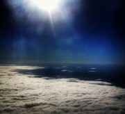 flying in the clouds