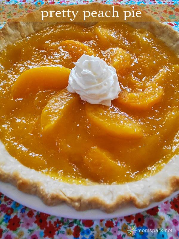 pretty peach pie recipe