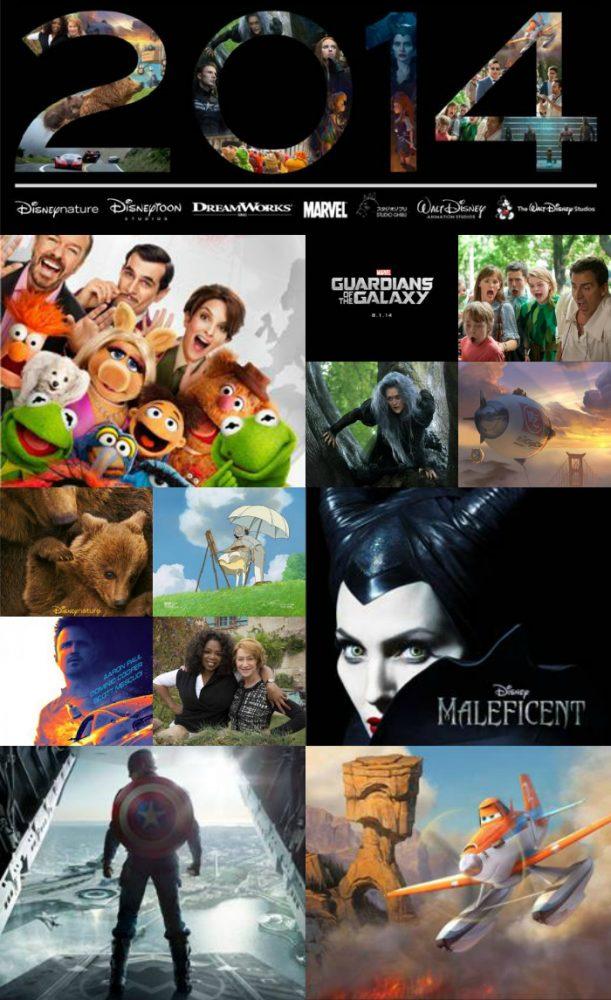 2014 Disney, Disneytoon, DreamWorks and Marvel Movie List