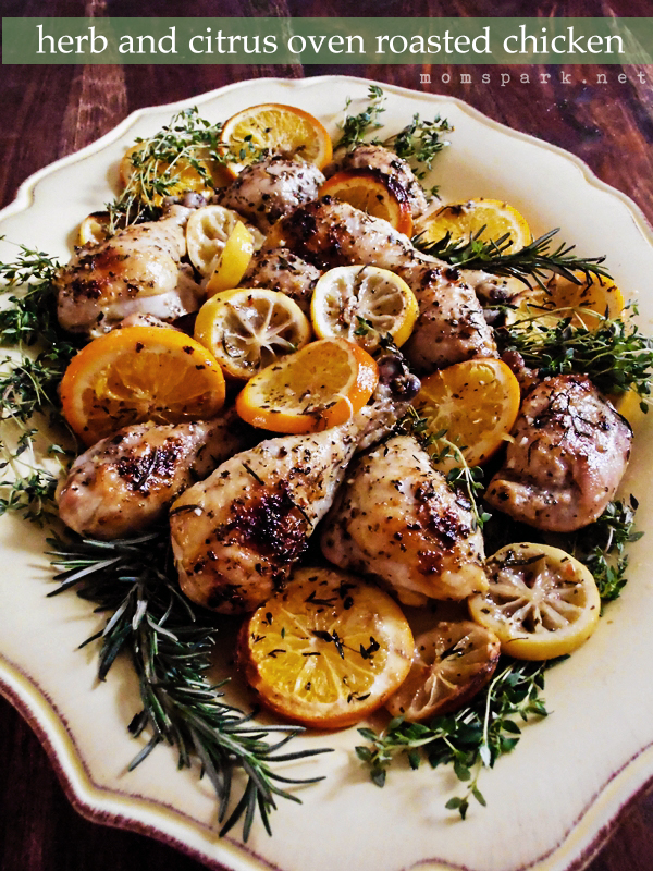 Herb and Citrus Oven Roasted Chicken Recipe