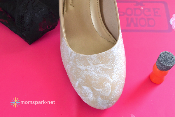 Shoe Makeover: Lace Heels Tutorial