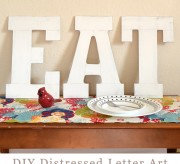Distressed Large Letter Art Tutorial - EAT