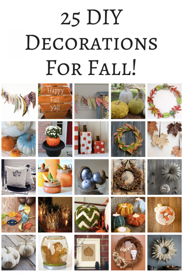 25 DIY Decorations For Fall!