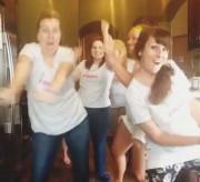 Bloggers dancing