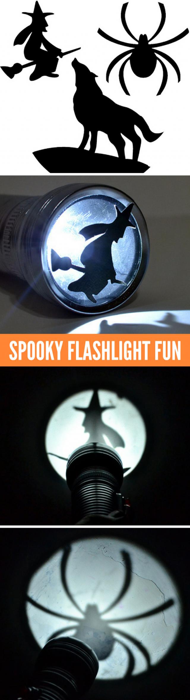 Halloween Shadow Art Flashlight Fun!