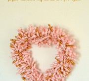 Make this adorable curlicue heart shaped wreath