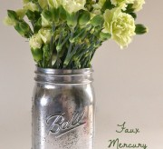 The only thing that could make a Ball mason jar a cuter vase is a quick faux Mercury glass treatment!
