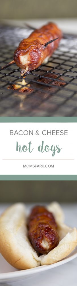 Bacon-Wrapped Cheese-Stuffed Hot Dogs
