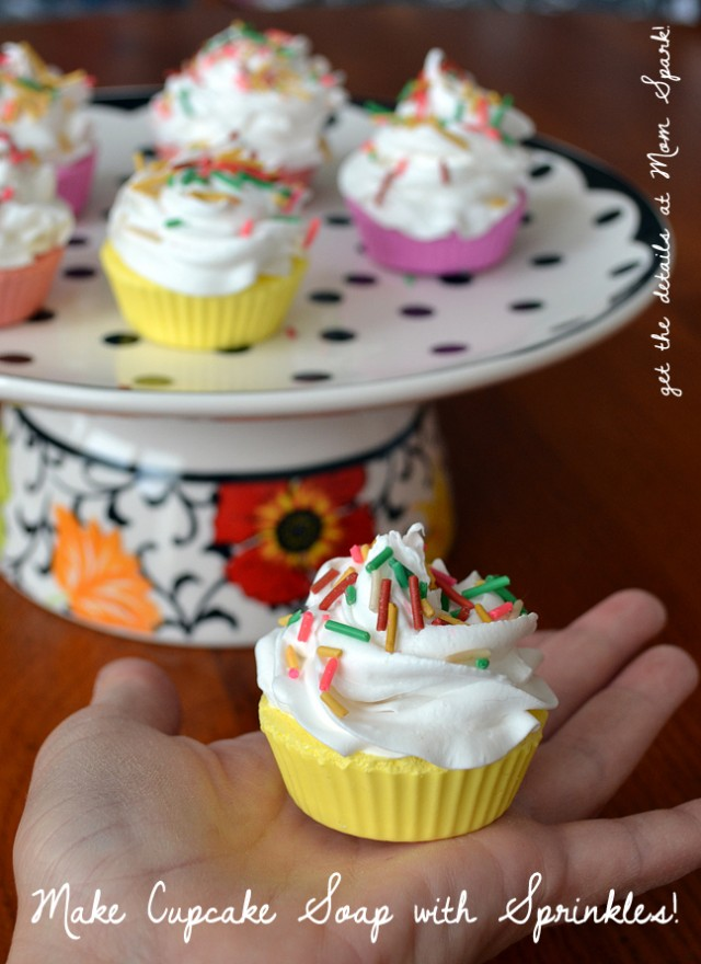 Make sweet little soaps that look like cupcakes complete with frosting and sprinkles!