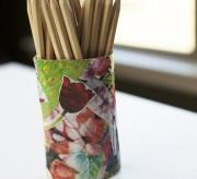 Reuse Shampoo Bottle Pencil Cup